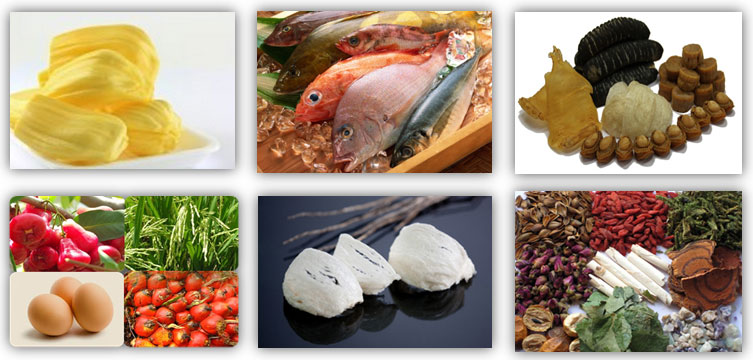 Sai Kim Products including frozen seafood, dried or processes seafood, chinese herb, egg export, edible birdnest and plantation.